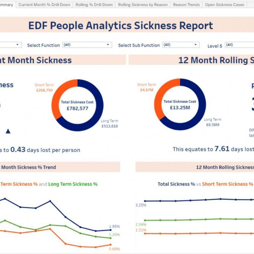 Dashboard Image from EDF Case Study