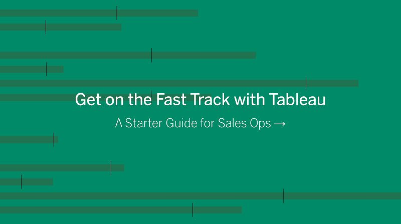 Navigate to Get on the Fast Track with Tableau