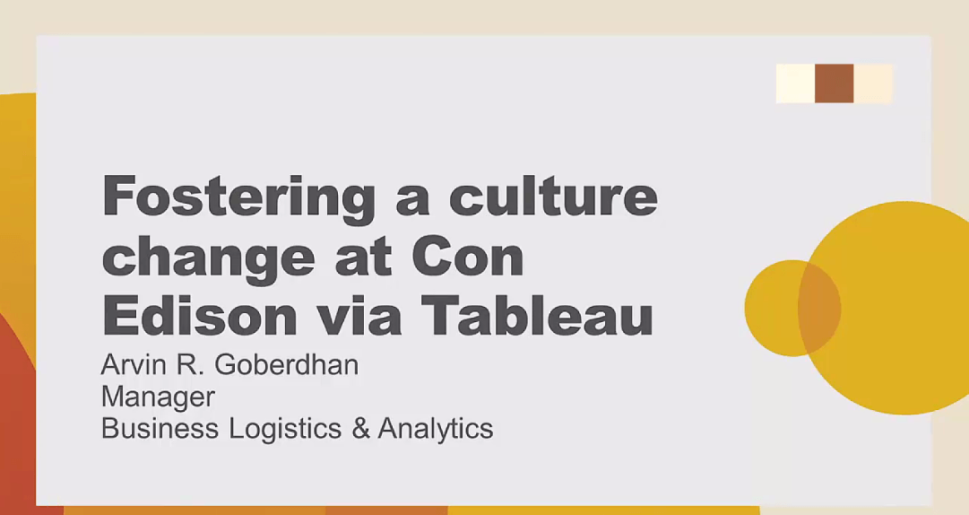 image of <p>Fostering a culture change at Con Edison via Tableau</p>