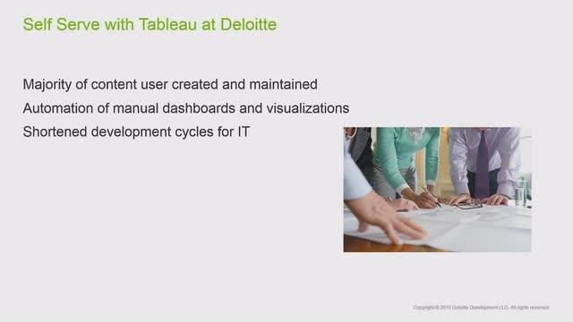 Services analytics at Deloitte