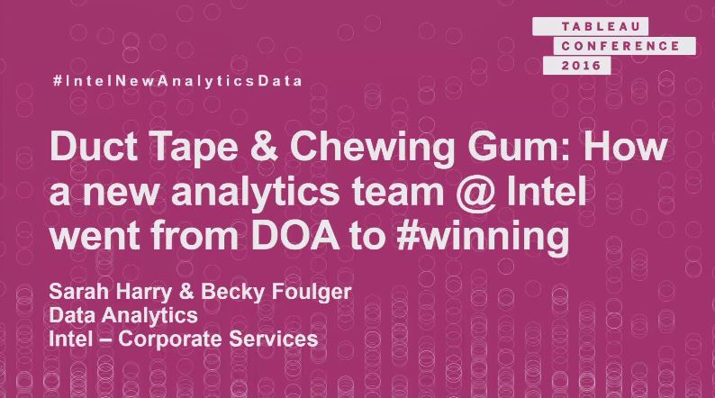image of <p>Intel: How a new analytics team went from DOA to #winning with Tableau</p>