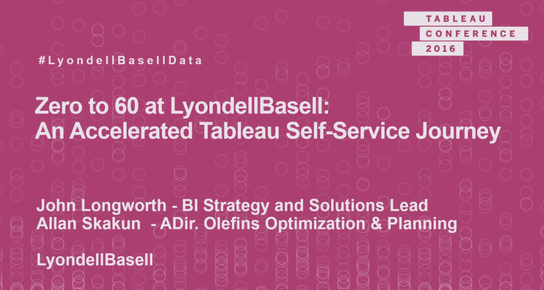 image of <p>Zero to 60 at LyondellBasell: an accelerated Tableau self-service journey</p>