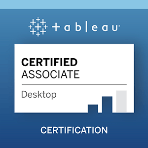 Zu Tableau Desktop Certified Associate