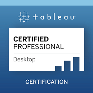 Zu Tableau Desktop Certified Professional