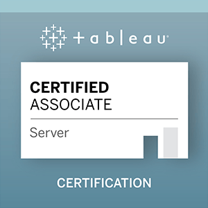 Zu Tableau Server Certified Associate