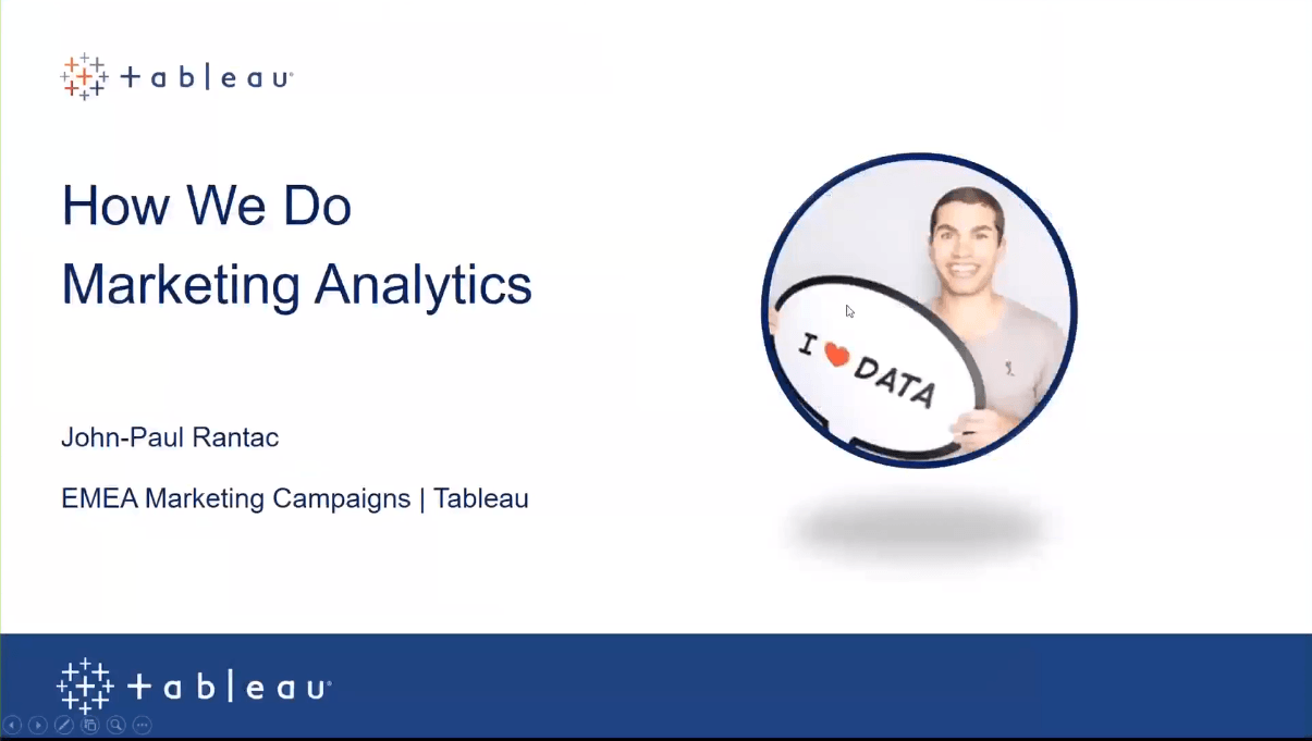 瀏覽至 How Tableau uses Tableau to manage marketing programs